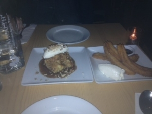 bread pudding & churros